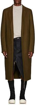 Rick Owens Men's Moreau Wool-Blend Melton Overcoat - Green