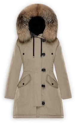 Moncler Aredhel Fox Fur Trim Down Parka $2,180 thestylecure.com