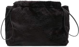 Jil Sander faux fur clutch bag
