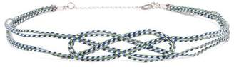 Thierry Colson Knotted Belt - Womens - Blue