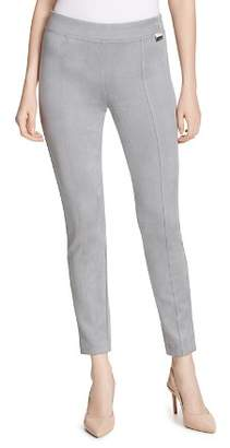 Calvin Klein Seamed Faux-Suede Leggings