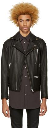 Diesel Black Leather L-Gibson-1 Biker Jacket $895 thestylecure.com