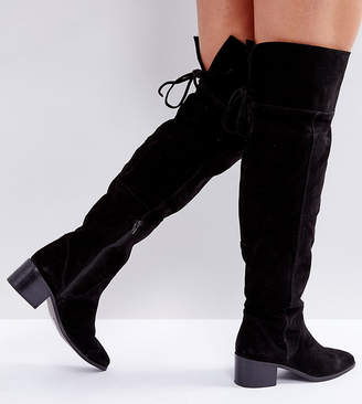 b6923298d23 Asos Design KOBRA Wide Fit Suede Over The Knee Boots