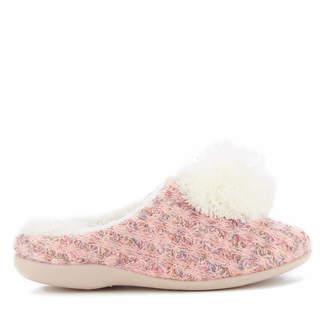 Dunlop Women's Adeline Pom Pom Slippers