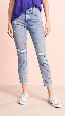 Alice + Olivia JEANS Girlfriend Jeans