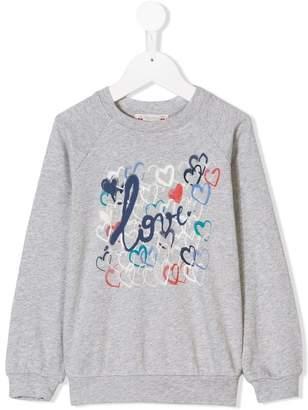 Bonpoint love heart printed sweatshirt