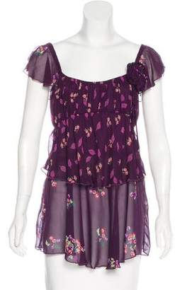 Anna Sui Silk Embellished Top