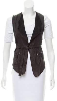 Illia Leather Belted Vest