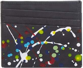 Maison Margiela Leather Paint Splat Printed Card Holder