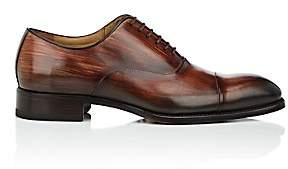 Harris Men's Cap-Toe Burnished Leather Balmorals - Red, Brown