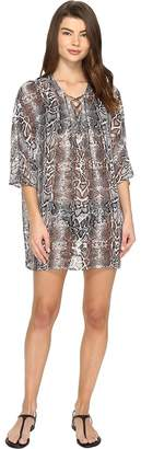 Tommy Bahama Snake Charmer Lace Front Tunic Cover-Up Women's Swimwear