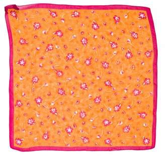 Saks Fifth Avenue Floral Silk Square Scarf
