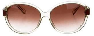 Chloé Translucent Round Sunglasses