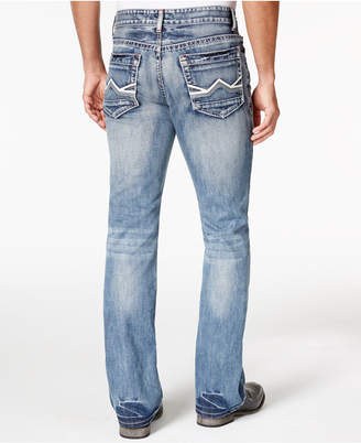 INC International Concepts Men's Lennix Boot-Cut Light Blue Wash Jeans, Only at Macy's $49.98 thestylecure.com