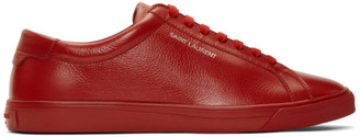 Saint Laurent Red Andy Sneakers