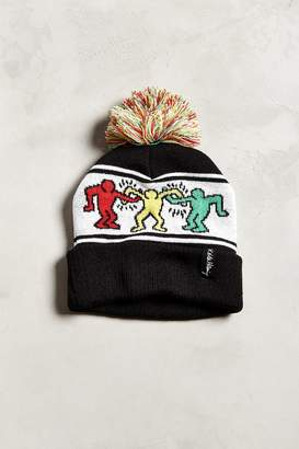 cb7c1e7031a at Urban Outfitters · Urban Outfitters Keith Haring Pompom Beanie