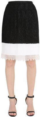 Pleated Skirt With Lace Hem $1,690 thestylecure.com