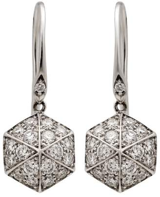 Stephen Webster 18K White Gold Deco .66ct. Diamond Dangle Earrings