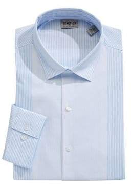 Kenneth Cole Reaction Stretch Slim-Fit Striped Dress Shirt