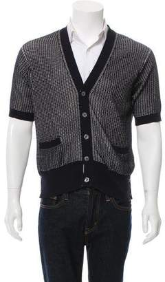 Thom Browne Knit Short Sleeve Cardigan