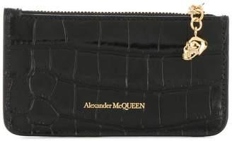 Alexander McQueen textured snakeskin-style wallet