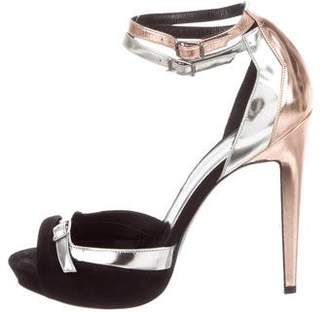 Pierre Hardy Metallic Ankle Strap Sandals