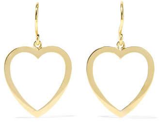 Open Heart 18-karat Gold Earrings