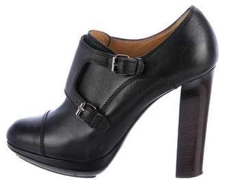 Lanvin Leather Platform Booties