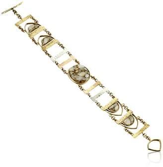 Barse Toggle Bracelet with White Calcite