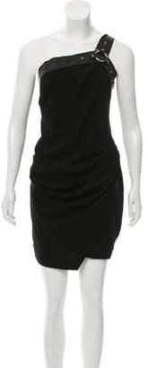 The Kooples Asymmetrical Mini Dress