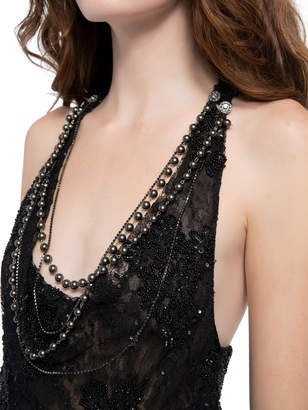 Alice + Olivia HARMON BEADED LACE TANK