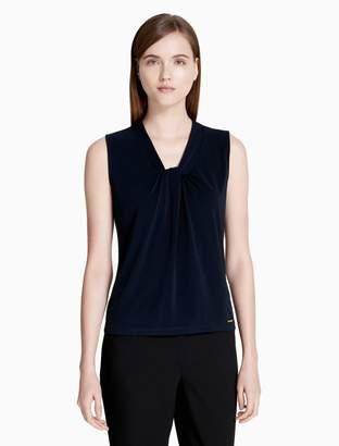 Calvin Klein matte jersey knot neck cami top