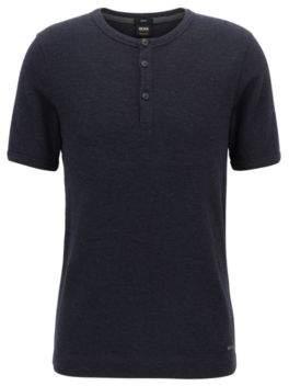 BOSS Hugo Cotton Henley T-Shirt Trixer S Dark Blue