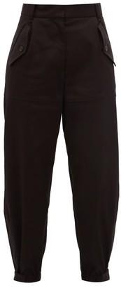 Nili Lotan Arliss Gabardine Cargo Trousers - Womens - Black
