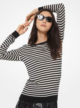 MICHAEL Michael Kors Striped Merino Wool Sweater