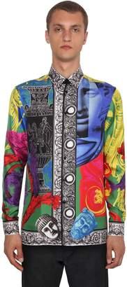 Versace Magna Printed Silk Twill Shirt