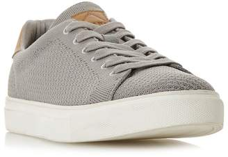 Dune Grey 'Toure' Knitted Upper Lace-Up Trainers