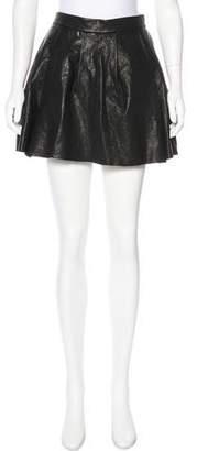 Thakoon Pleated Leather Skirt