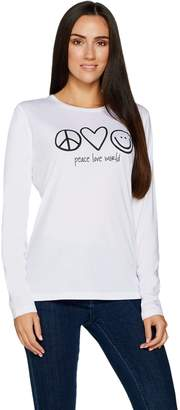Peace Love World Signature Long Sleeve Knit Top
