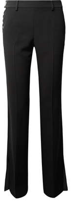 Alexander Wang Embellished Crepe Bootcut Pants - Black