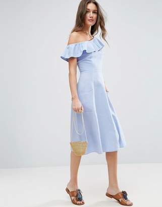 ASOS One Shoulder Ruffle Front Sundress $56 thestylecure.com