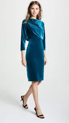Badgley Mischka Velvet Cocktail Dress