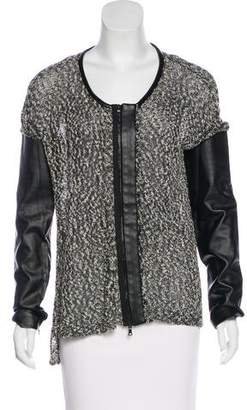Robert Rodriguez Open-Knit Zip-Up Cardigan