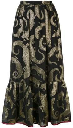Gucci lizard jacquard skirt