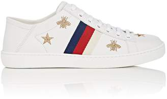 Gucci Women's New Ace Embroidered Leather Sneakers