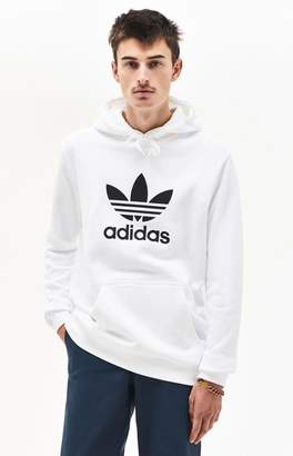 adidas Trefoil Warm-Up White Pullover Hoodie