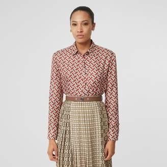 0055383a Burberry Monogram Print Silk Shirt