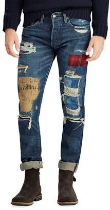 Polo Ralph Lauren Sullivan Distressed Slim Fit Jeans in Blue