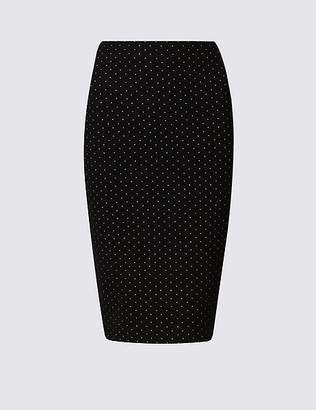 Marks and Spencer Jacquard Pencil Skirt