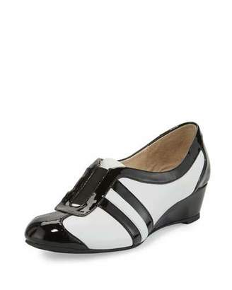 Taryn Rose Paislee Striped Wedge Sneaker, White $125 thestylecure.com